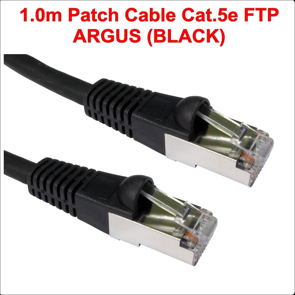 1.00m FTP Patch Cable Cat.5e ARGUS (BLACK)