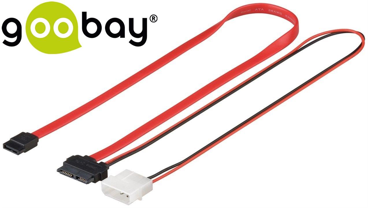 3 Gbps SATA L-TypeM to Slimline SATA 0.3m GOOBAY