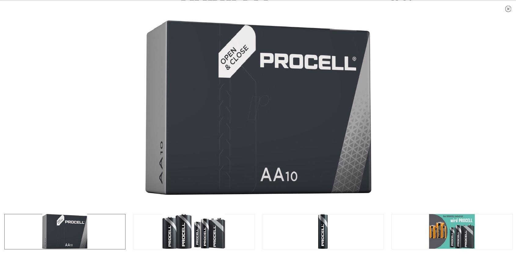 AA 1.5V 10бр. Alkaline Duracell ProCell LR06