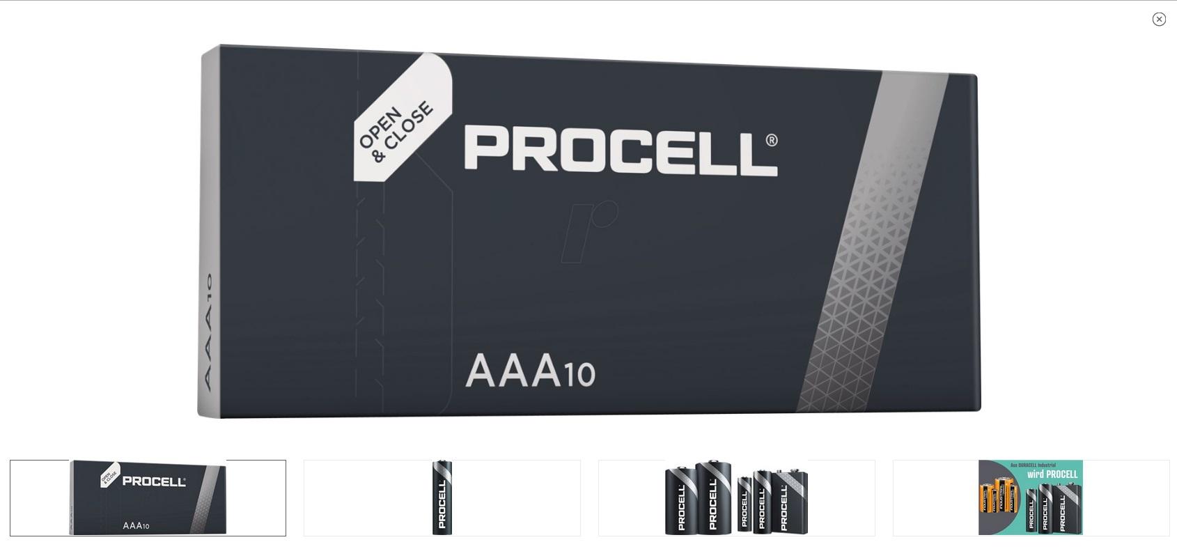 ААА 1.5V 10бр. Alkaline Duracell ProCell LR03