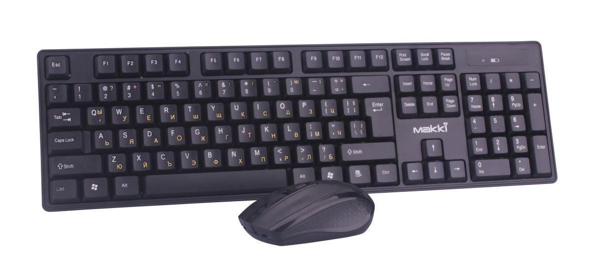 Безжична клавиатура с мишка MAKKI-KBX-008,BG
