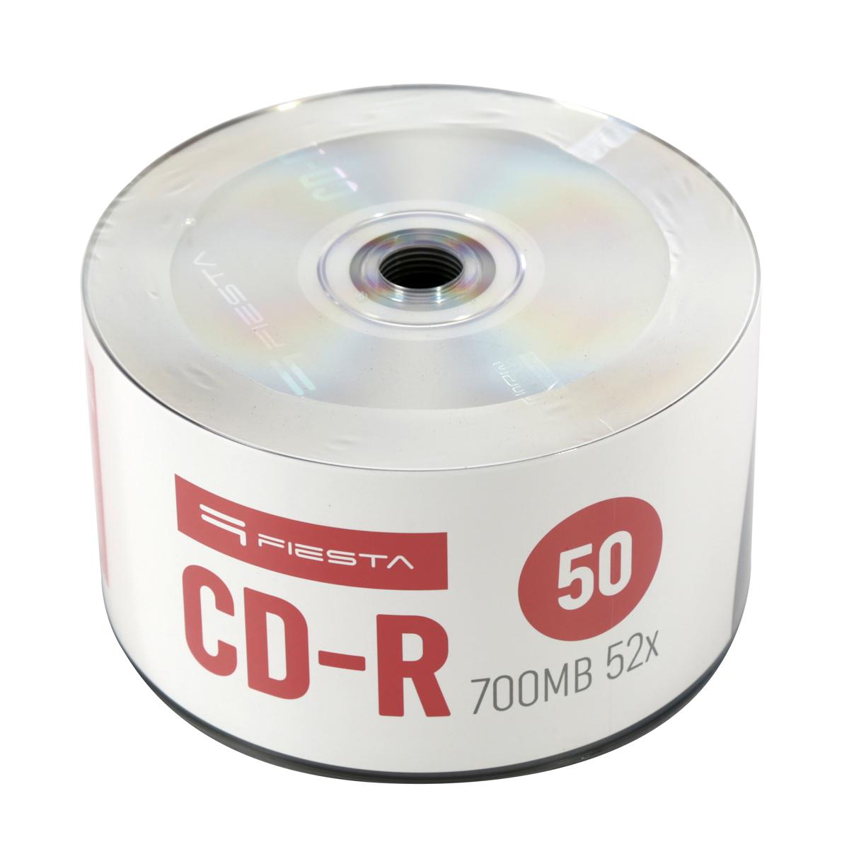 CD-R 700MB  50бр. Шпиндел FIESTA (52x )