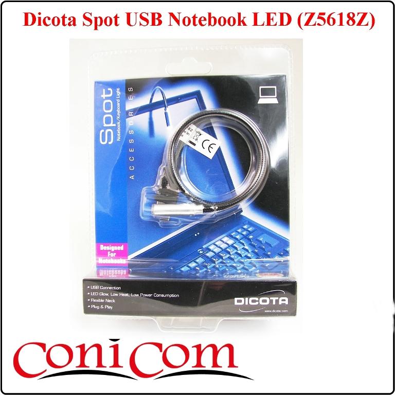 Dicota USB гъвкава лампа за лаптоп LED (Z5618Z)