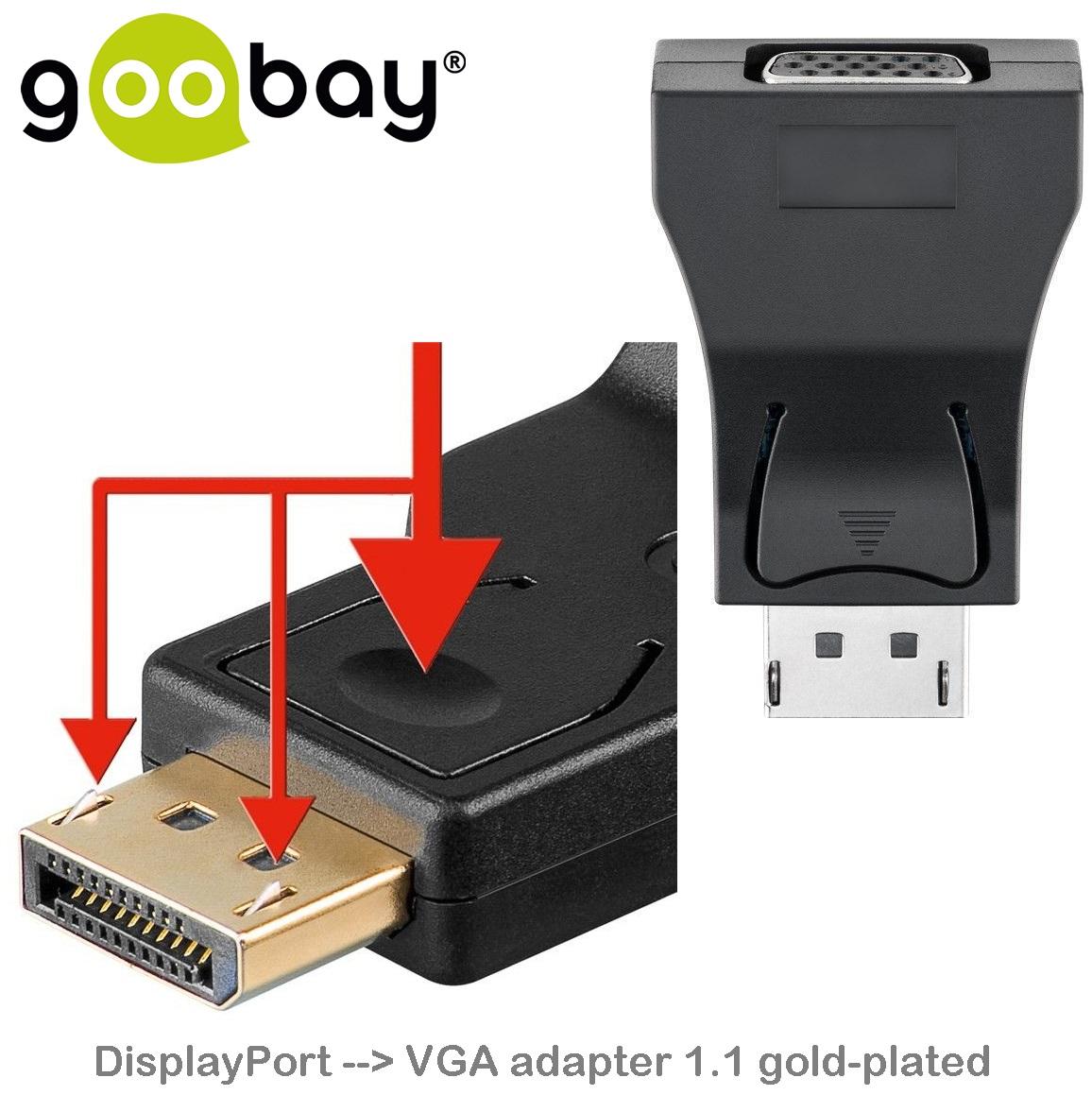 DisplayPort male to VGA HD15 Female GOOBAY 63489