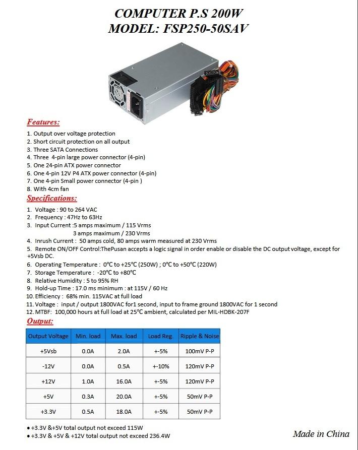FSP Group - FSP250-50SAV (85)F (250W)