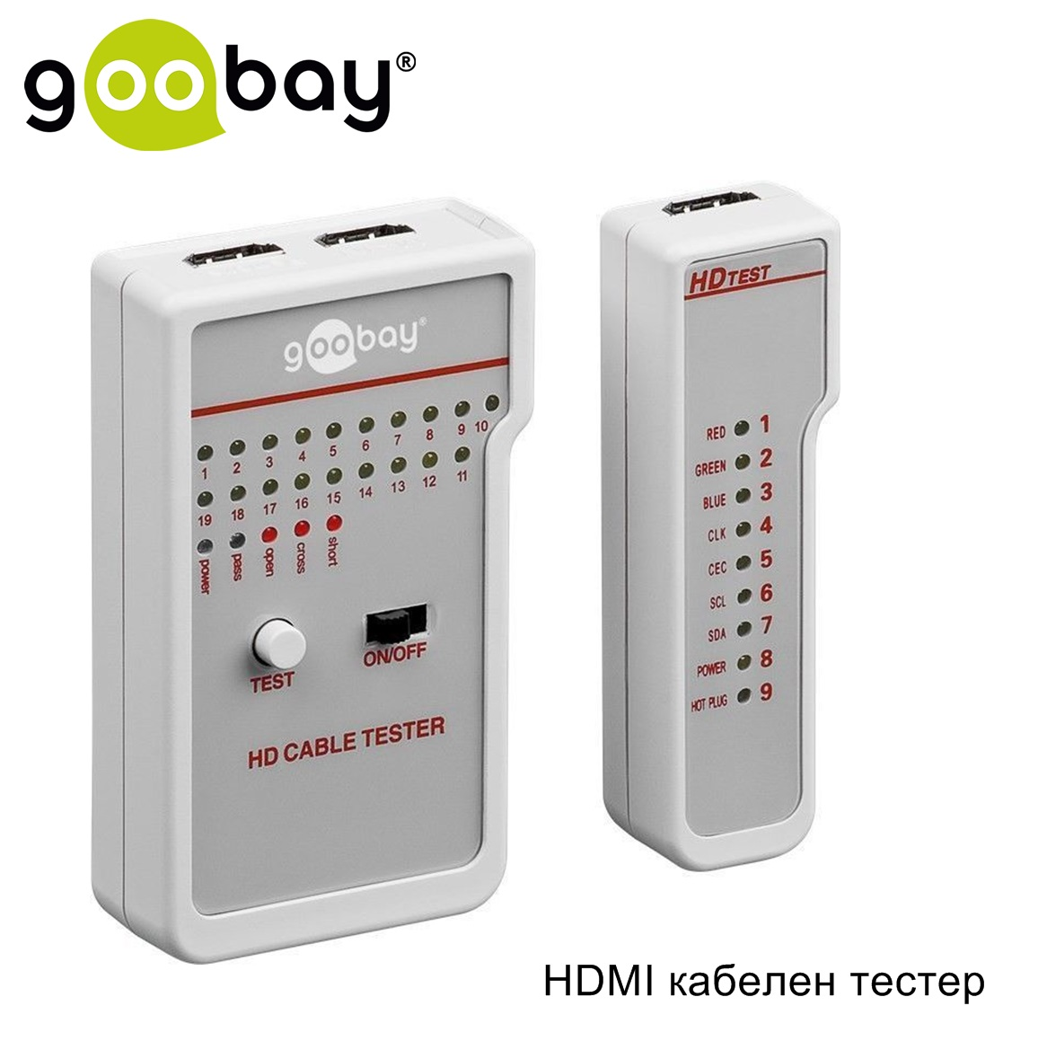 HDMI кабелен тестер GOOBAY 31961