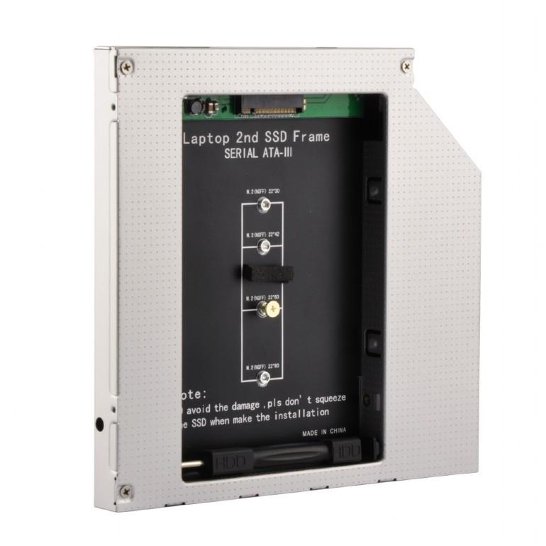 Kутия за Втори NGFF (M.2) SSD Gembird 12.7mm