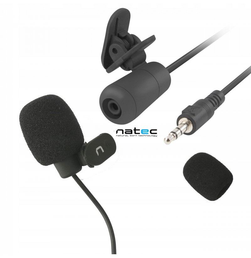 Микрофон Natec Bee Клипс-Пчела -58 dB 1.8м Черен