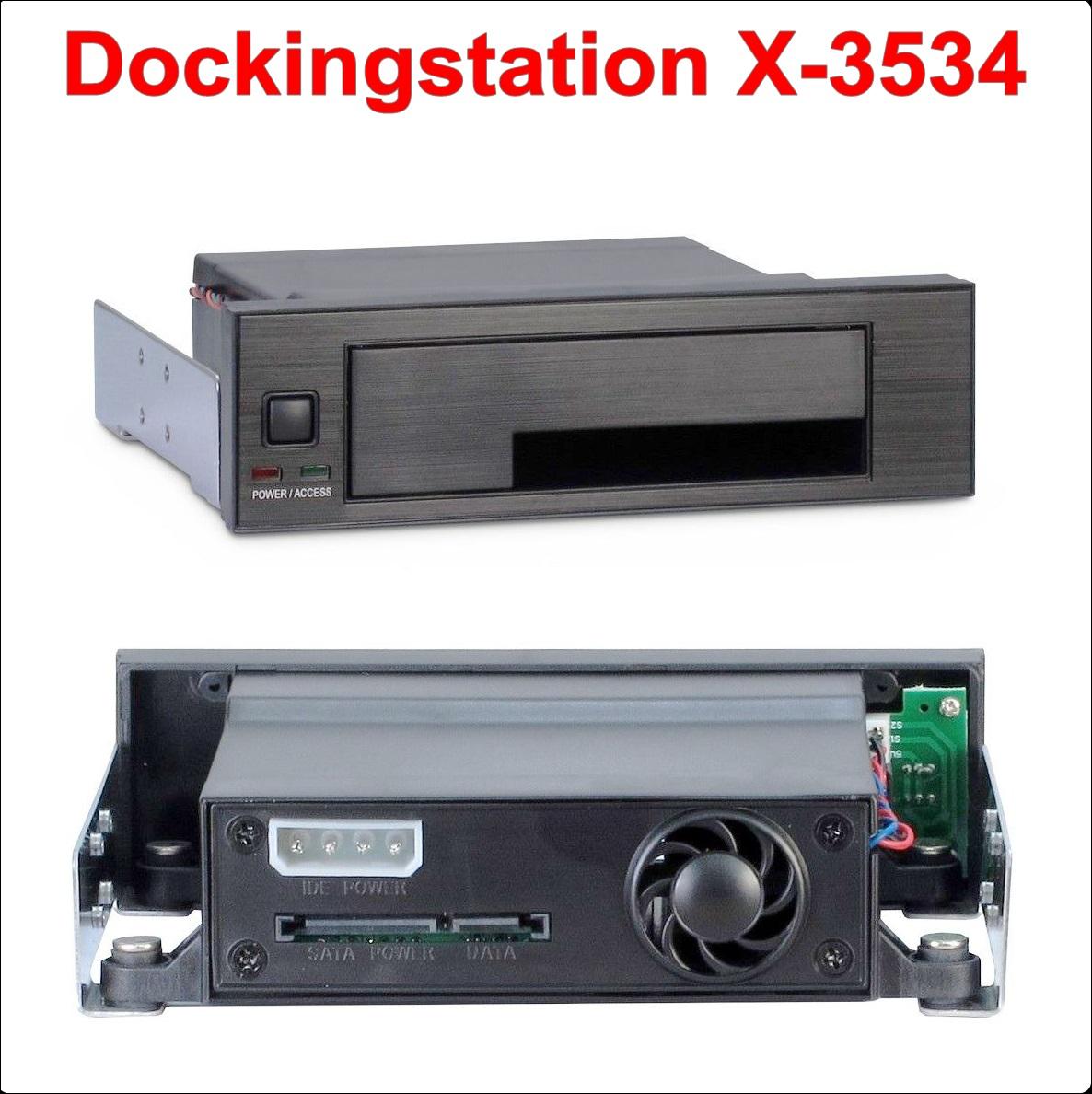 Mobile Rack 5.25``to SATA 2.5/3.5``HDD X-3534