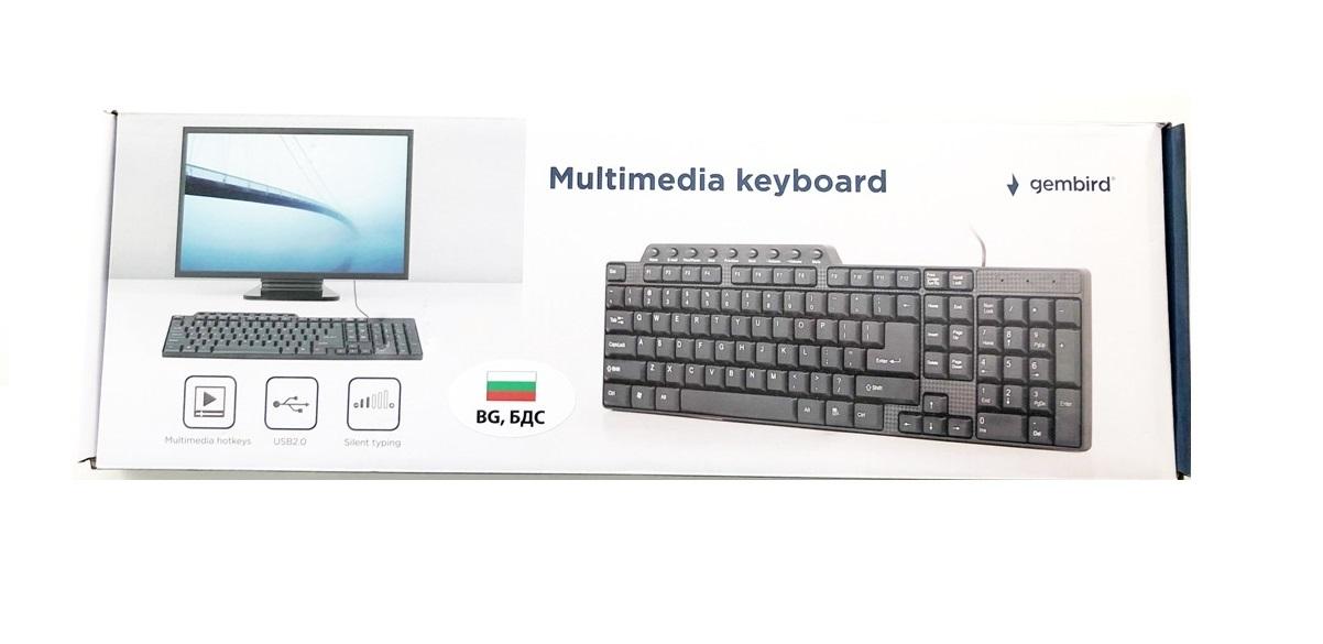 Мултимедийна клавиатура USB Gembird KB-UM-104,BG