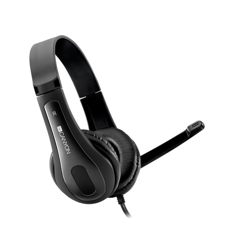 Слушалки с микрофон CANYON CNS-CHSC1B Black