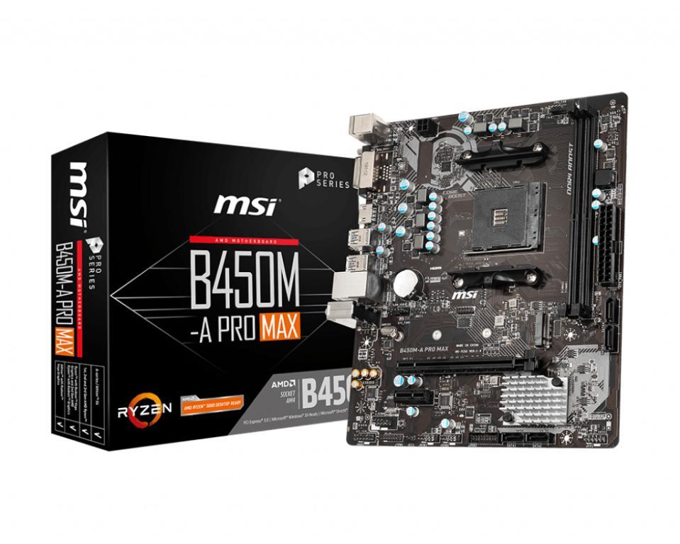 Socket AM4 MSI B450M-A PRO MAX, 2x DDR4