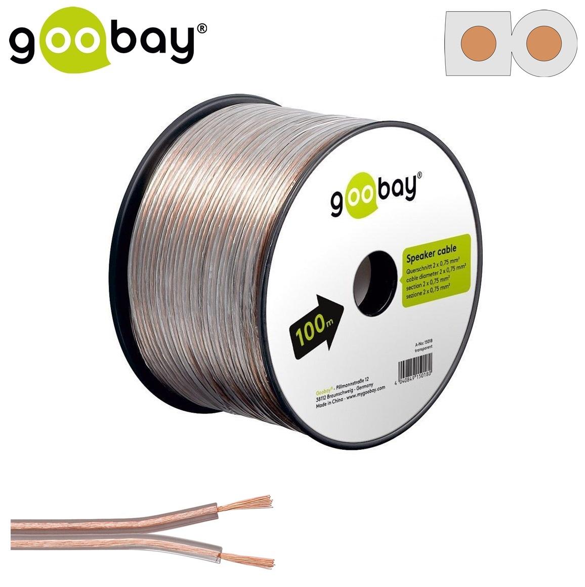 Speaker cable (100 m Макара 2x0.75mm)GOOBAY