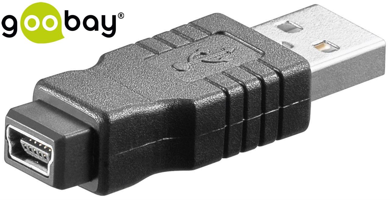 USB A/M to USB Mini/F/B GOOBAY