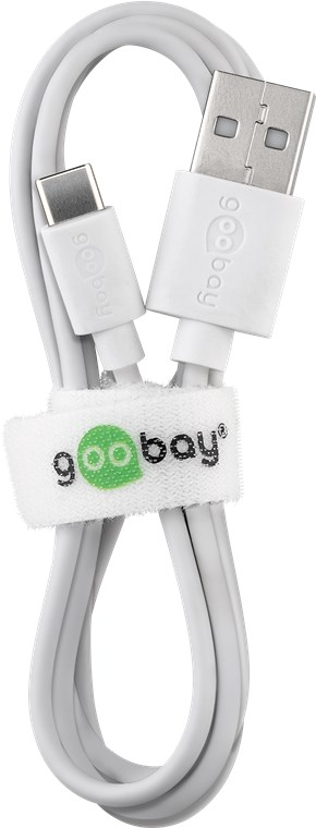 USB male - USB Type-C мъжко 1м.GOOBAY бял