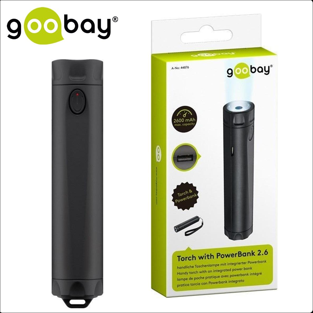 Външна батерия GOOBAY 44876, 2 600mAh (Фенер)