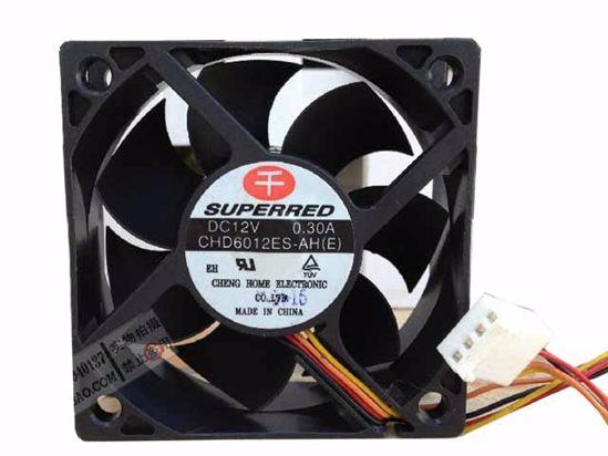 Вентилатор  60x60x15mm SUPERRED CHD6012ES-AH(E)