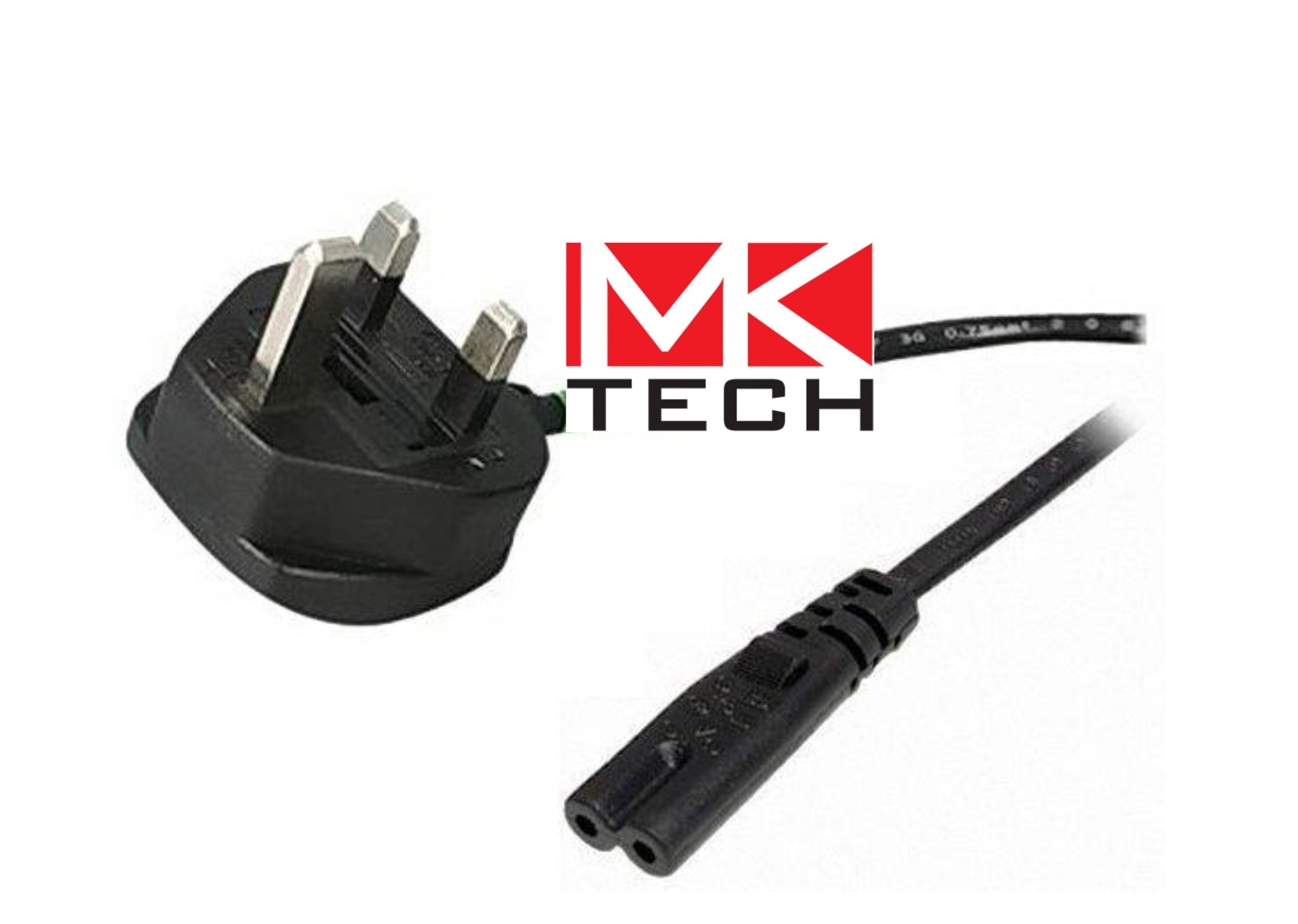 Захранващ кабел C7-UK->2-pin  1.0m MKTECH